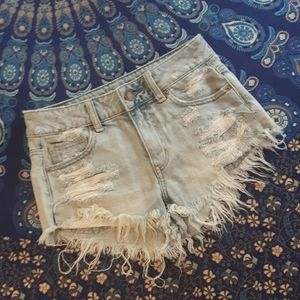 2/$15 American Eagle distressed jeans shorts
